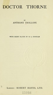 Cover of: Dr. Thorne