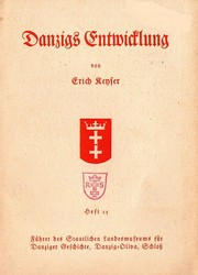 Cover of: Danzigs Entwicklung