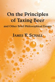 Cover of: On the Principles of Taxing Beer