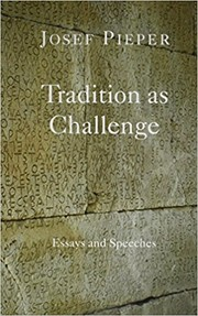 Cover of: Tradition as Challenge