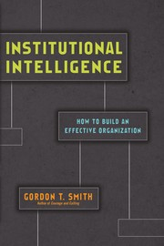 Cover of: Institutional intelligence