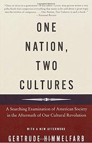 Cover of: One Nation, Two Cultures