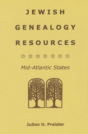 Cover of: Jewish Genealogy Resources