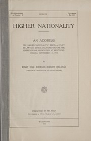 Cover of: Higher nationality
