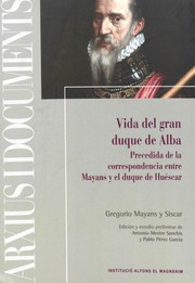 Cover of: Vida del gran duque de Alba