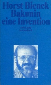 Cover of: Bakunin, an invention