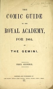Cover of: The comic guide to the Royal Academy, for 1864