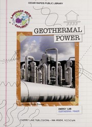 Cover of: Geothermal power
