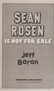 Cover of: Sean Rosen is not for sale