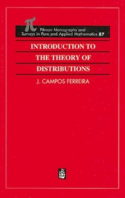 Cover of: Introduction To The Theory of Distributions