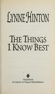 Cover of: The things I know best