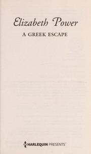 Cover of: A Greek Escape