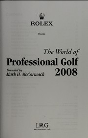 Cover of: World of professional golf 2008