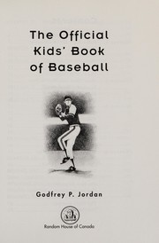 Cover of: The official kids' book of baseball