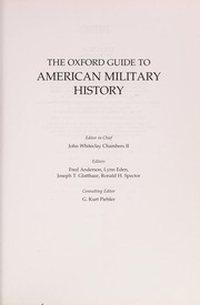 Cover of: The Oxford guide to American military history
