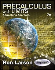 Cover of: Precalculus with limits: a graphing approach