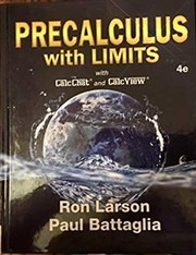 Cover of: Precalculus with limits: with CalcCat and CalcView
