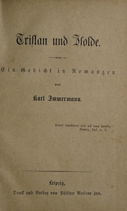 Cover of: Tristan und Isolde