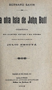 Cover of: John Bull's Other Island