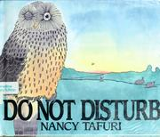 Cover of: Do not disturb