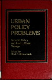 Cover of: Urban policy problems