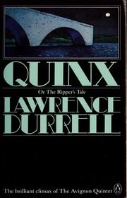 Cover of: Quinx, or, The ripper's tale: a novel