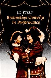 Cover of: Restoration comedy in performance