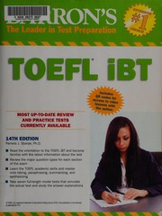 Cover of: Barron's TOEFL iBT