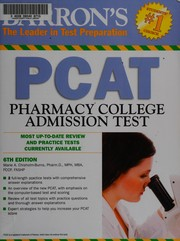 Cover of: Barron's PCAT