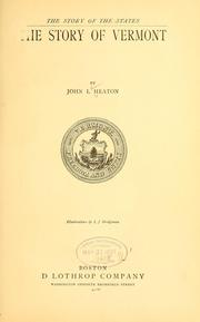 Cover of: The story of Vermont