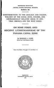 Cover of: The smaller fossil Foraminifera of the Panama canal zone