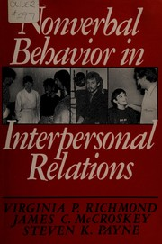 Cover of: Nonverbal behavior in interpersonal relations