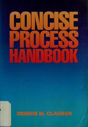 Cover of: Concise process handbook