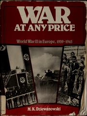 Cover of: War at any price