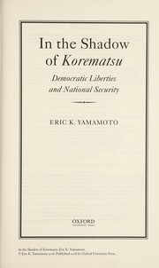 Cover of: In the shadow of Korematsu