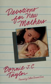 Cover of: Devotions for new mothers