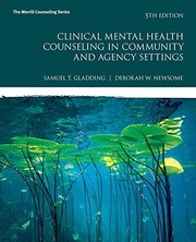 Cover of: Clinical mental health counseling in community and agency settings