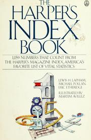 Cover of: The Harper's index book