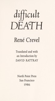 Cover of: Difficult death