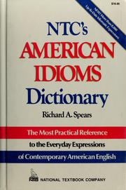 Cover of: NTC's American idioms dictionary