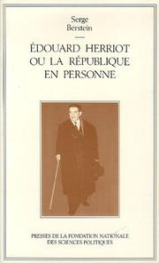 Cover of: Edouard Herriot, ou, La République en personne