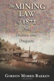 Cover of: The mining law of 1872