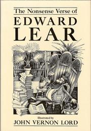 Cover of: The nonsense verse of Edward Lear