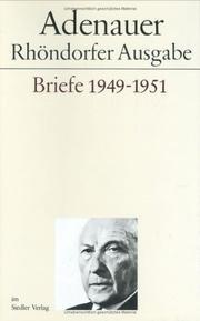 Cover of: Briefe, 1949-1951