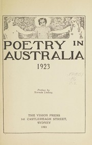 Cover of: Poetry in Australia, 1923