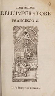 Cover of: Confessione dell'Imperatore Francesco II