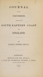 Cover of: A journal of an excursion round the south-eastern coast of England