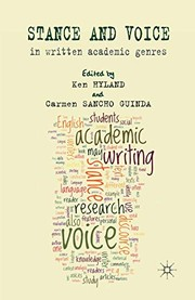 Cover of: Stance and voice in written academic genres
