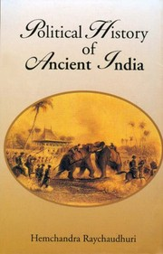 Cover of: Political history of ancient India