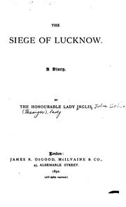 Cover of: The siege of Lucknow